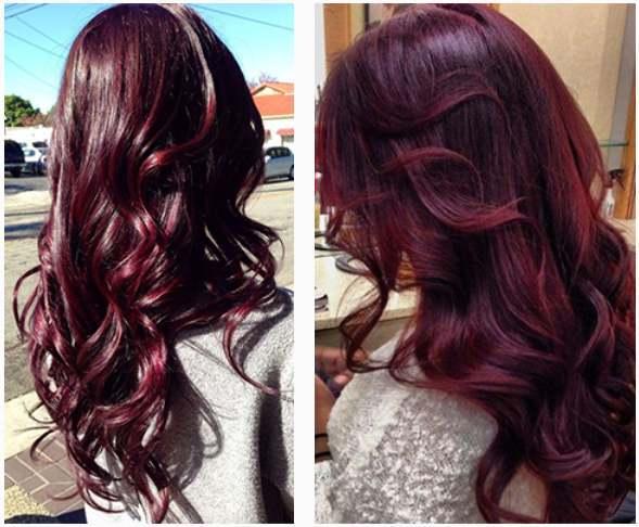 Баклажан цвет на волосах